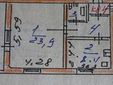 1 комнатная квартира, 39. 5 кв.м., 2 из 2 этаж