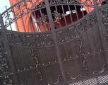 Ворота скульптурные из алюминия